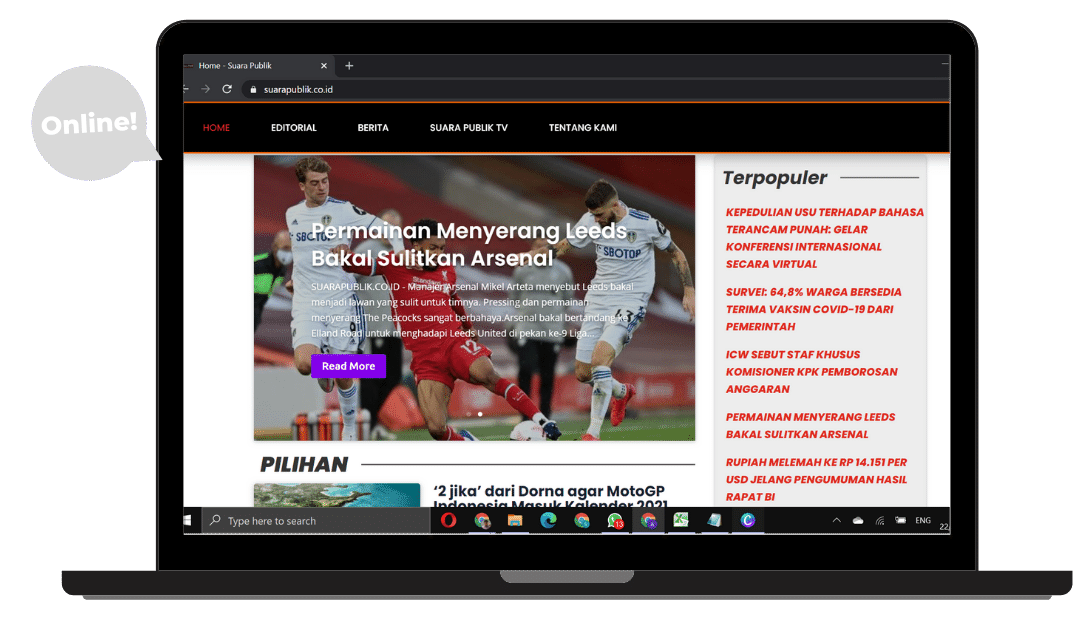 proyek website media suarapublik.co.id