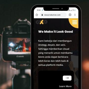proyek terbaru kami adalah membuat web bisnis dasxproduction , sebuah jasa video profesional di kota medan