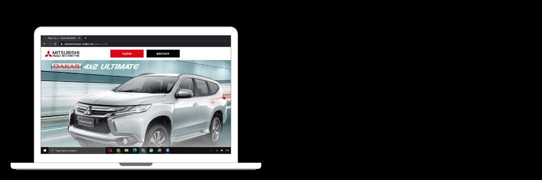 bekerza.com membuat web sales mobil mitsubishimedan-dealer untuk membantu sales meningkatkan penjualan mobil