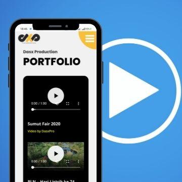 kami buat web bisnis untuk dasxprodution, sebuah layanan jasa pembuatan video profesional di kota medan