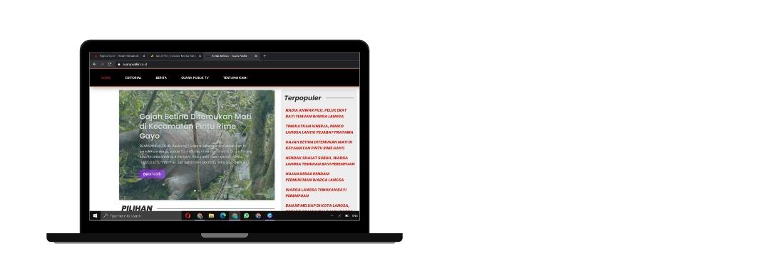 kami berhasil membuat web media suarapublik dengan target mudah dibaca dengan branding warna khas suarapublik