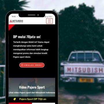 buat web sales mobil mitsubishimedan-dealer untuk membantu pemasaran dan penjualan mobil lengkap dengan google ads