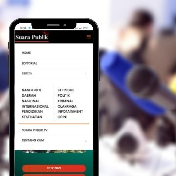 tampilan menu mobile di website media suarapublik