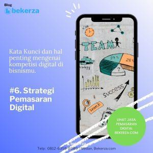 gambar hp dengan tampilan strategi pemasaran digital