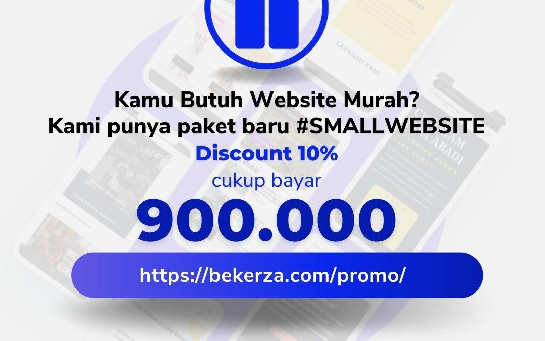 Promo Pembuatan Website April, Paket Small Website Diskon 10%