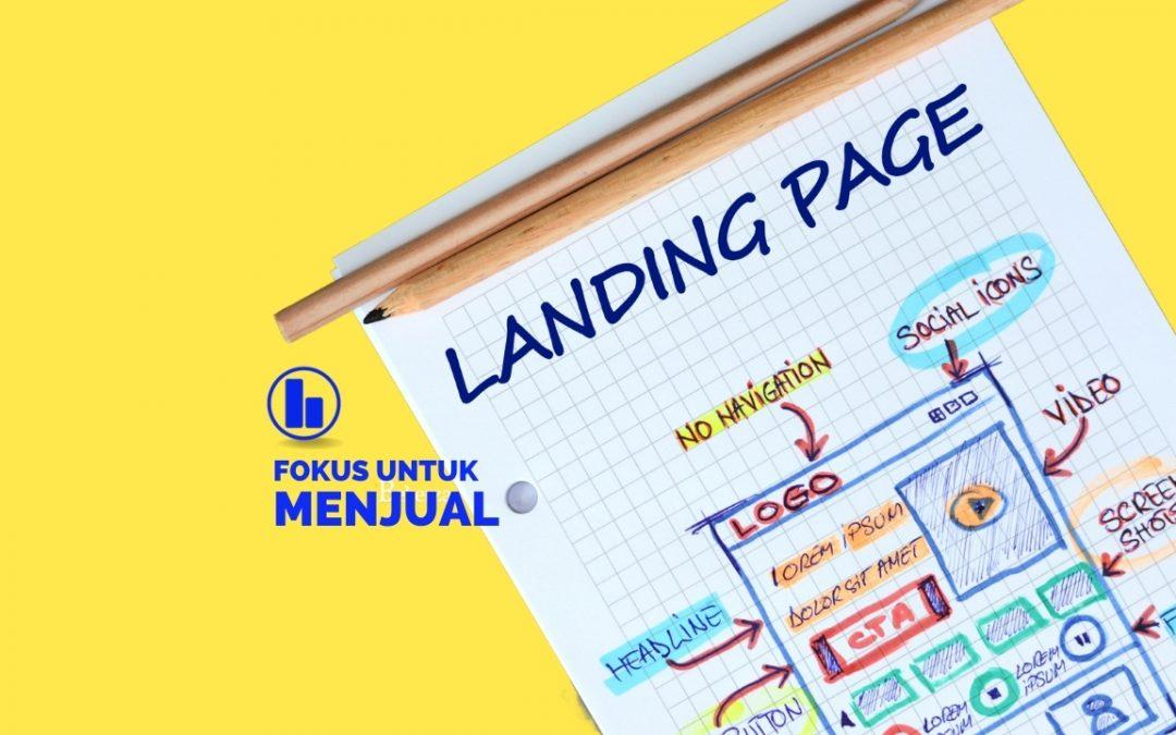 Arti Landing Page dan Fungsinya.
