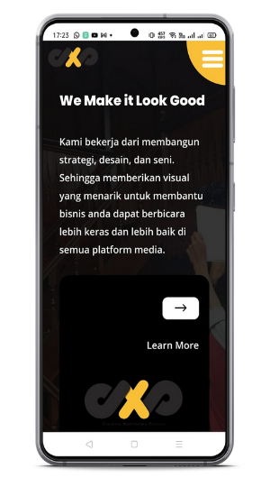 dasxpro membutuhkan website yang sesuai brandingnya