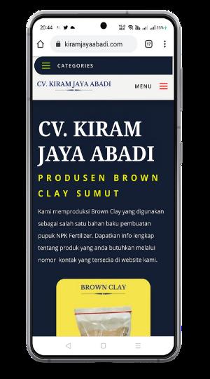 bekerza.com membuat website profile company untuk cv kiram jaya abadi